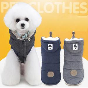 Vestiti caldi del cane per il piccolo cane Antivento Inverno Pet Dog Coat Jacket vestiti imbottiti Puppy Outfit maglia Yorkie S-2XL 5 stile
