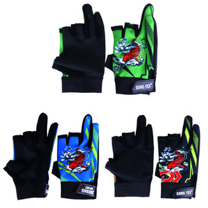 Wholesale 3 Colors New Popular style 3 Pair Outdoor Sport Waterproof 3 Cut Finger Anti-slip Non-Slip Breathable Fishing Gloves