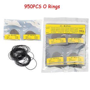 Yosoo 950pcs 0,5 millimetri / 0,6 millimetri Dia gomma O Ring impermeabile rotonda della vigilanza Indietro Guarnizione Guarnizione Rondelle Set Guarda Repair Tool 12-30mm