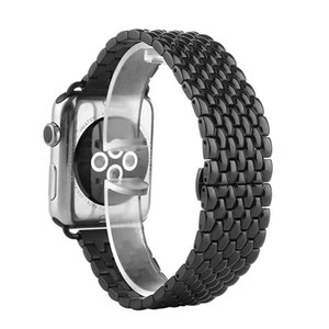 classic black stainless steel band strap dragon pattern for Apple Watch series 5 4 3 2 1 38mm 40mm 42mm 44mm
