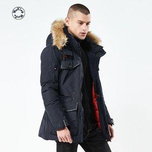 Parkas Woxingwosu dos homens espessamento de algodão-acolchoado casaco coleiras casaco de algodão-acolchoado jaqueta