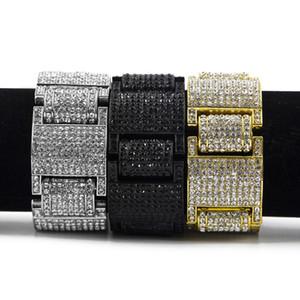 Mens Hip Hop Übertrieben Gold Armbänder Schmuck Neue Mode Strass Diamant Iced Out Armband Für Männer