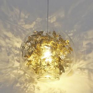American Artecnica Tangle Globe Led Pendant Light Dia25cm Modern Lustre Glass Fish Tank Acero Flor Suspender Accesorios de luz Lámpara