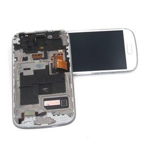 SAMSUNG GALAXY s4 için gt-i9500 i9505 i9515 i919 i747 çerçeve ile LCD Ekran Dokunmatik Ekran Digitizer