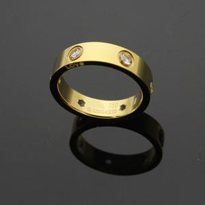 Art und Weise jewerly 316L Titan Stahl 18K Roségold überzogene Carter Schraube Liebe Ring für Frauen Mann Hochzeit Ring 18K Gold vergoldet Fine Schmuck