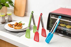 Yeni Paslanmaz çelik Plastik Gıda Maşa BARBEKÜ Klipler Salata Ekmek Hizmet Maşa Mutfak Aksesuarları Gıda Biftek Tong Klip Sıcak Satış