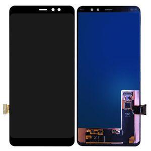 AMOLED Digitizador de pantalla para Samsung Galaxy A8 Plus 2018 A730 A730F LCD sin marco negro