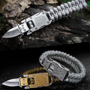3pcs / lot Outdoor Survival Pulseira Umbrella corda Multifunção EDC tático faca 7 Núcleo camuflagem do exército Parachute Cord