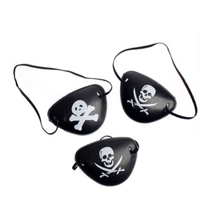 Pirate Eye Patch Halloween Mascarade Pirate Accessoires Cyclope Eye Patch Lazy Amblyopia Skull Eye Patch de haute qualité