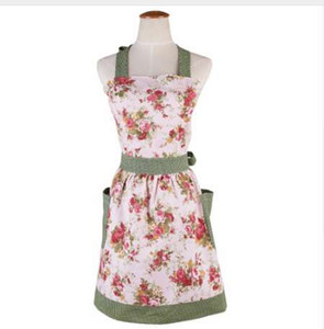 hot Retro antifouling Cute Cotton Kitchen Aprons Rural style for woman Delantal Cooking work Tablier Dress Vintage