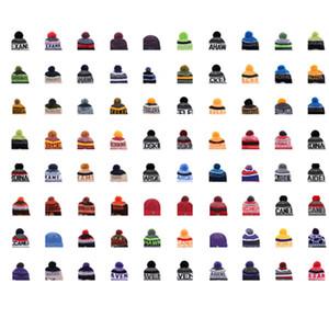 2018 Team Beanies Gorras Pom Sports Hats Mix Match Orden 18 Equipos Todas las gorras en stock Sombrero de punto Sombrero de calidad superior Más de 5000 estilos