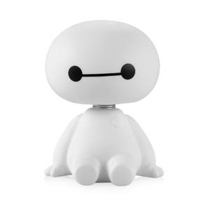 Nueva historieta de plástico Robot sacudiendo la cabeza figura adornos de coches decoraciones interiores de automóviles gran héroe juguetes de la muñeca adorno accesorios