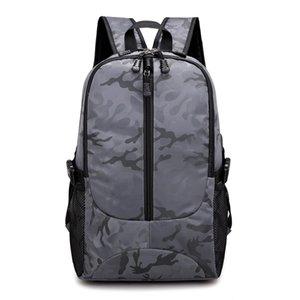 Dropshipping USB зарядка рюкзак мужчины высокое качество нейлон водонепроницаемый большой емкости сумка для ноутбука камуфляж вертикальная дорожная сумка