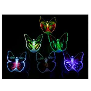 10pcs новизны Красочные бабочки стены наклейки LED Night Light Переключатель Home Decor Атмосфера Лампа Детская комната Декоративная Люминесц.свет
