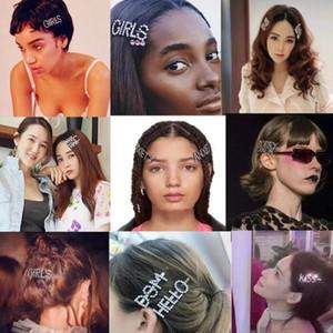 패션 편지 헤어 클립 Duckbill Bangs 헤어 클립 머리핀 여러 가지 빛깔의 전체 다이아몬드 소녀 자용 큰 화려한 활 머리 헤어 액세서리