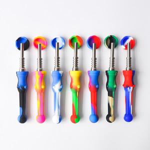 Цветные силиконовые нектар нектар с 14.4 мм нержавеющей стали Совет Мирко НК DAB установок силиконовая трубка для курения бонги оптом