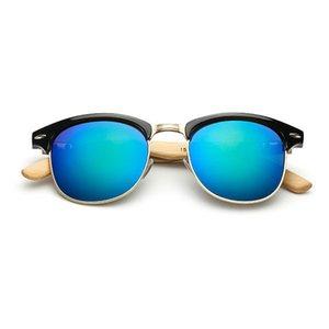 Wooden Sunglasses For Women Fashion Brand UV400 Mirror Lenses Bamboo Sunglasses For Men 2018 New Arrival