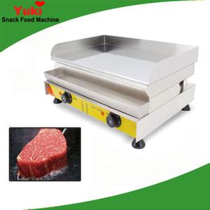 Ticari elektrikli kalbur Japon teppanyaki ızgara paslanmaz çelik teppanyaki plaka elektrikli kalbur omlet biftek plakası dorayaki makinesi