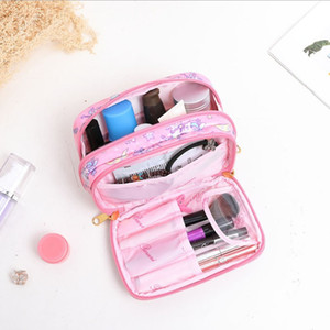 Fashion Speed-A, small fresh and lovely makeup bag, waterproof, wash gargle, small, small, large capacity and multifunctional receiving bag