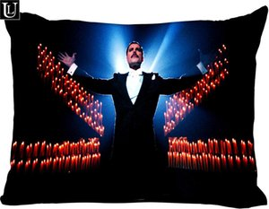 Custom freddie mercury Rectangle Pillow Cover Size 45x35cm (one side) Print Custom Zipper Polyester Coon Pillowcase more size