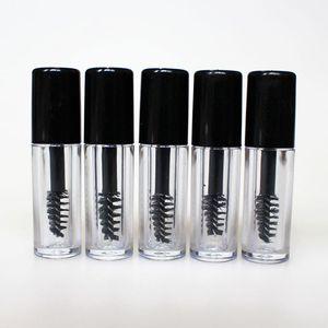 Новый 50шт 0,8 мл Empty Туши Tube Ресница крем Флакон / жидкость бутылка Sample косметического контейнер с непротекаемым Inner Black Cap