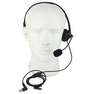 2Pin PTT MIC Auricular Auricular para Motorola Walkie Talkie Radio Nuevo + Pista C2229A