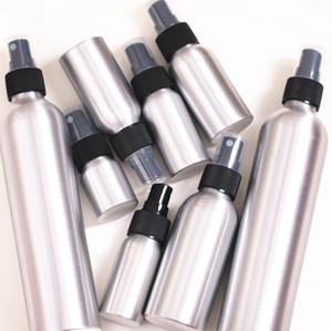 30ml 120ml Vider Aluminium Métal Vaporisateur Atomiseur Flacon vaporisateur rechargeable Pompe Mist Noir Atomiseur pour l'emballage cosmétique outil OOA4926