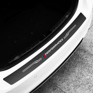 TPIC 탄소 섬유 스타일링 자동차 후면 범퍼 스티커 커버 BMW E60 E90 F20 F30 F10 X1 X5 X6 M3 자동차 트렁크 비닐 데칼 스티커