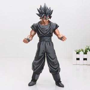Acción 26cm de Dragon Ball Z Super Saiyan Goku Vegeta Gohan Msp Maestro Estrellas pieza Goku Chocolate Negro Pvc figura de acción de juguete