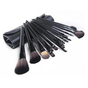 pshipping yeni makyaj fırçaları mc 24 adet fırça setleri deri çanta hediye