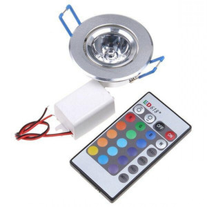 6pcs ampoule LED lampe 3W RVB 16 couleurs Spot Light AC85-265V + IR télécommande RGB LED plafond Downlight