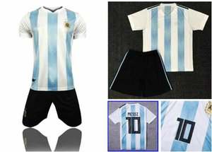 TOP QUALITY 2018 World Cup MESSI DYBALA ICARDI Argentina home blue soccer jersey kit AGUERO DI MARIA HIGUAIN BIGLIA away football