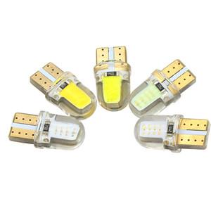 1x السيارات t10 w5w led لمبات الأبيض 194 168 مصباح 501 cob سيليكون قذيفة سيارة أدى أضواء السوبر مشرق بدوره الجانب مصباح 12 فولت d030