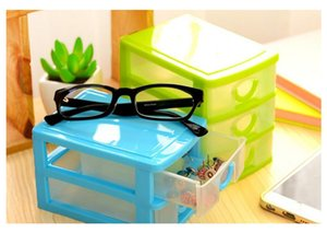 Practical Detachable DIY Desktop Storage Box Transparent Plastic Storage Box Jewelry Organizer Holder Cabinets for Small Objects