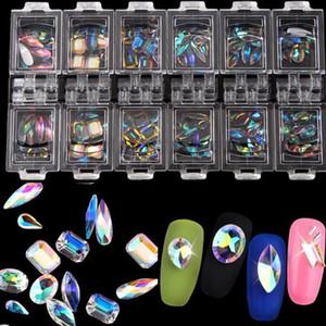 Nomes novo Cristal Rhinestones Diamonds Raindrop Eye Cavalo Chama Forma Flatback apontou para Jewels para unhas Decoração Art