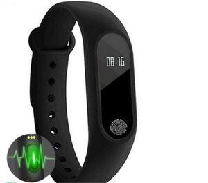 M2 Fitness-Tracker Uhrenarmband Pulsmesser Wasserdichter Aktivitäts-Tracker Smart Armband Schrittzähler Anruf erinnern Gesundheit Armband mit OLED