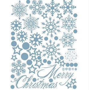 GZTZMY De Noël décoration stickers muraux fenêtre autocollants auto-adhésif autocollants De Noël décorations pour la maison navidad natal