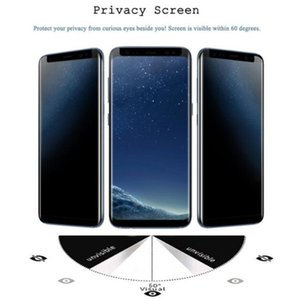 Case friendly privacy For Samsung Galaxy S9 S9 Plus S8 Note8 Privacy anti-spay Anti-glare Case Friendly 3D Tempered Glass Screen Protector