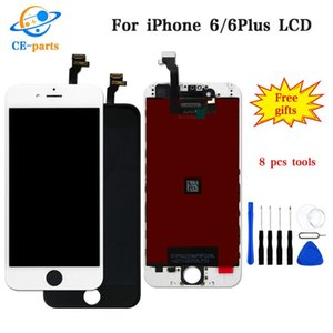 Display LCD per iphone 6 6S 7G 8G con Touch Digitizer Schermo completo con telaio Parti di ricambio per assemblaggio completo DHL Ship Black / White