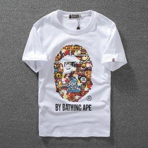L'alta qualità della scimmia luminoso Stampa Uomini manica corta t-shirt Uomo Moda e Donna T Shirt Coppie Casuali