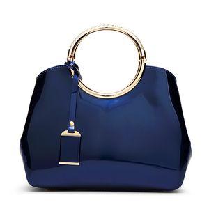 Red New Bag Handbags Bridal Messenger Bag Patent Women's Cuero con estilo Hombro Joker 2021 Brillante Mduqr
