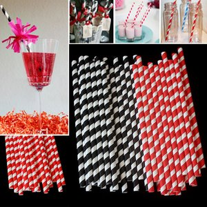 Paper Spiral Straws Striped Disposable Bubble Tea Thick Drinking Paper Straws Environment Friendly Kraft Paper Straw Wedding Party HH7-1292