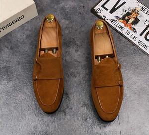 2018 vendas Hot Marca de Luxo Homens De Couro Genuíno Sapatos Oxford Pontas Do Dedo Do Pé Dos Homens Vestido Sapatos Com Dupla Fivela Sapatos de Casamento Masculinos L78