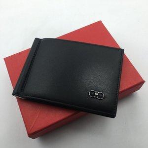 100% vera pelle Slim Mens carta di credito Portafoglio Fermasoldi Card Case ID disegno semplice di Brunito Edges 2019 Nuovo di lusso degli uomini Bifold Portafogli