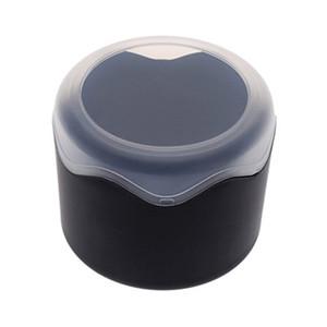 Caja de reloj individual redonda de plástico con cojín de esponja negro