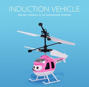 Minion drone RC Helicopter Aircraft Mini drone Fly Flashing elicottero controllo della mano Giocattoli RC Minion Quadcopter Dron LED Giocattoli per bambini (6 colori)