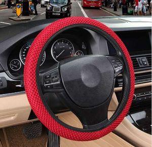 DIY рулевого управления колесом автомобиля крышка подходит для большинства автомобилей Воздухопроницаемости Сэндвича Ткани Durable Skidproof Авто Обложки автомобили Стайлинг