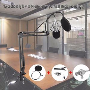 Freeshipping 전문 콘덴서 마이크 BM-800 카디오이드 프로 오디오 스튜디오 보컬 녹음 홀더와 마이크 녹음 마이크