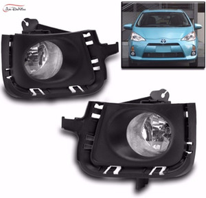 Toyota PRIUS C AQUA için Araba Sis Farları 2012-2014 Halojen ampul: H11-12V 55 W Ön Sis Farları Tampon Lambaları Kiti