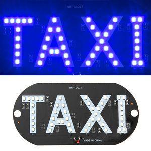 La venta caliente más nueva del taxi llevó la lámpara indicadora de la cabina del parabrisas del coche muestra azul LED lámpara de la luz del taxi del parabrisas 12V
